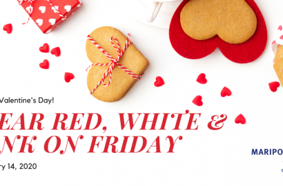 Wear Red, White and Pink on Friday February 14th, 2020